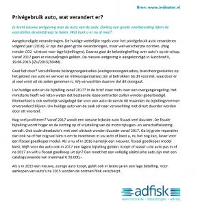Privegebruik auto - www.indicator.nl