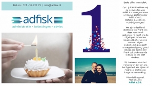 Adfisk 1 jaar via e-mail